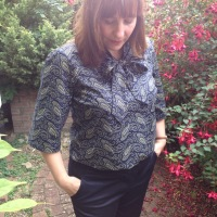 The Paisley Bow blouse